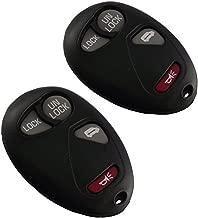 KEMANI Lot 2pcs New 4 Buttons Keyless Remote Key Fob Shell Case For 2001 2002 2003 2004 2005 Pontiac Montana No Chips Inside