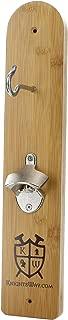 Maranda Enterprises Hook and Ring Game - Bottle Opener with Magnetic Cap Catch (Bamboo Wood)