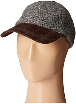 Wool Blend Cap with Suede Peak