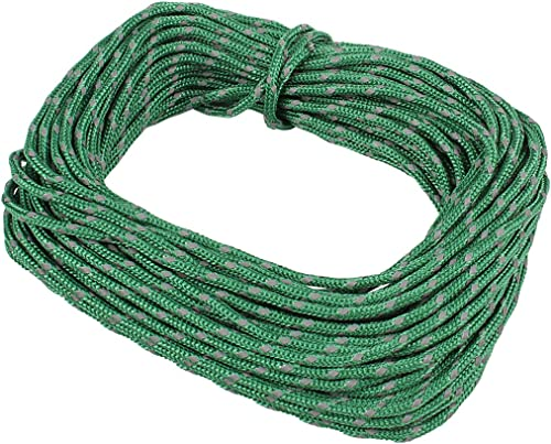 discount Larcele 50 Feet Reflective online sale Nylon Rope Camping Tent Guy Ropes sale HWFS-01(Green) online