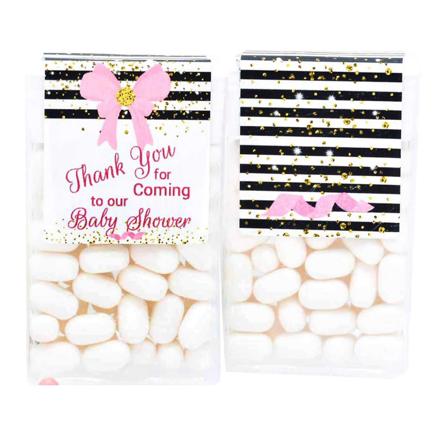24 Girl Tulsa Mall Baby Shower Bombing new work Tic Labels Tac Tac® Stic