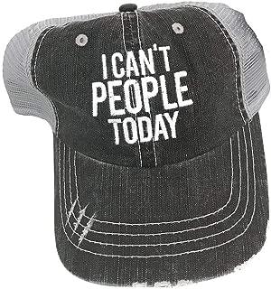 I Can't People Today Women's Trucker Hat Cap