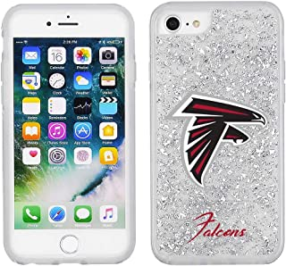 NFL Licensed Atlanta Falcons Clear Protective Silver Glitter Case - iPhone 8/7/6s/6
