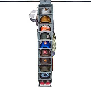 Dash Home Ultimate HAT Rack 10 Shelf Hanging Closet Hat Organizer for Hat Storage - Keep Your Caps and Baseball Hats in Great Condition - Hat Holder & Baseball Cap Organizer w/Tie & Belt Side Hooks