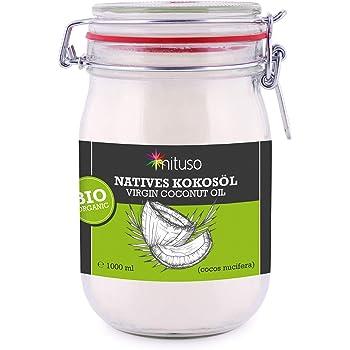 mituso Bio Kokosöl, nativ, 1er Pack (1 x 1000 ml) im Bügelglas