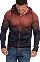 $25 » Letdown Accessories Men's Full Zip Heavyweight Fleece Hoodie Casual Slim Fit Gradient Print Winter Warm Drawstring Hooded ...