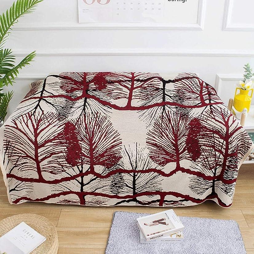 影響する安心妻ソファブランケット 田舎風ソフト投げ毛布多機能レジャー毛布昼寝毛布旅行毛布用エアコン付き部屋の家の装飾 毎シーズン使用 (Color : Red, Size : 130cmx160cm)