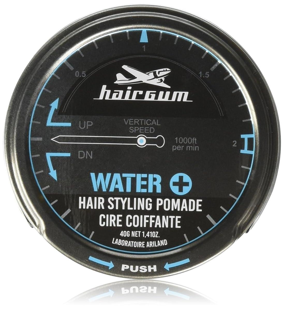 暗いポイント大人hairgum Water+ Pomade 40g【水性ポマード?ウェット?シトラス】