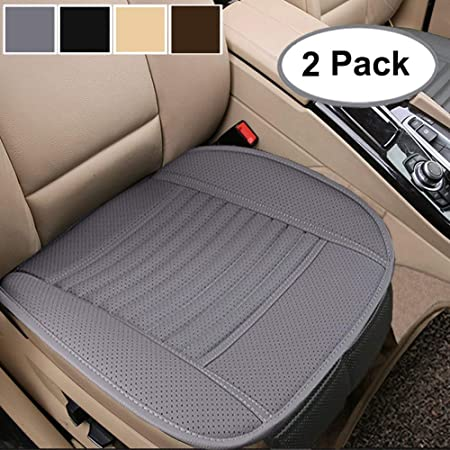 21.46 /× 24.02 Inch 1Piece Beige Breathable Faux Leather Front Seats Bottom Cover Chair Protector Fits Auto Truck /& SUV D-Lumina Car Seat Cushion Universal for 4 Season
