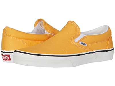 Vans Classic Slip-Ontm ((Neon) Blazing Orange/True White) Skate Shoes