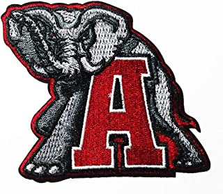 Elephant and Letter A Logo Patch Embroidered Sew Iron On Patches Badge Bags Hat Jeans Shoes T-Shirt Applique