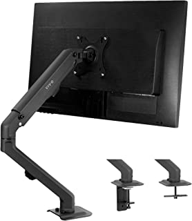 VIVO Articulating Single 17 to 27 inch Screen Mechanical Spring Arm Mount, Clamp-on Desk Stand, Fits 1 Monitor with Max VE...