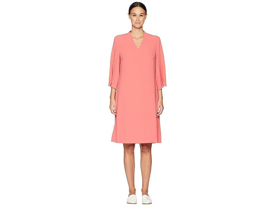 ESCADA Dsewa 3/4 Sleeve V-Neck Dress (Rose Flamingo) Women