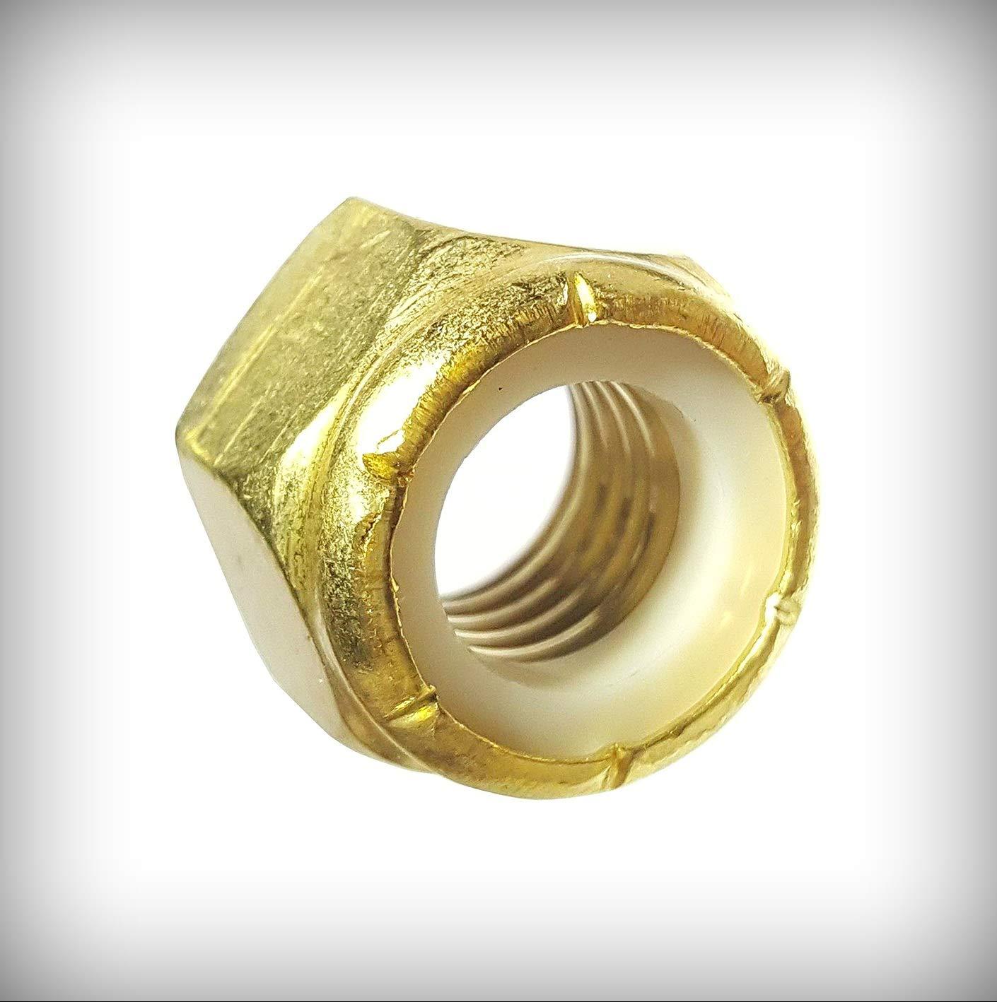 Ranking TOP14 New Lot of 250 Pcs supreme 5 16-18 Hex Insert Locknut Nylon Solid Brass