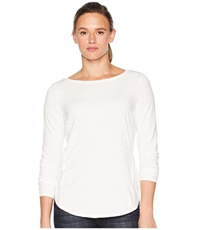 Royal Robbins Yosemite Slub Boat Neck Long Sleeve (Creme) Women