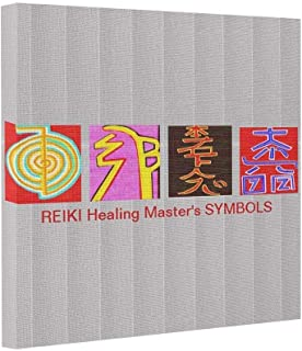 wonbye Gallery Wrapped Canvas Photo Canvas Print REIKI Master Symbols - OmMANTRA Base,for Home Modern Decoration Print, 8 x 8 Inch