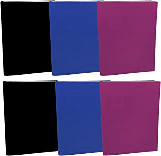 Stretchable Jumbo Book Covers 6Pack, Washable Durable Reusable Book Protector fits Hardcover Textbooks up to 9.5