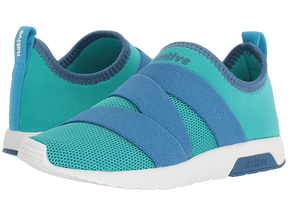Native Kids Shoes Phoenix (Little Kid) (Glacier Green/Storm Blue/Shell White) Kids Shoes