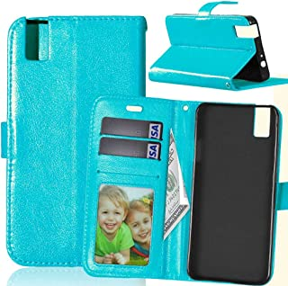 XINAE-Phone Case Anti-drop Phone Case Solid Color Premium PU Leather Wallet Magnetic Buckle Design Flip Folio Protective Case Cover with Card Slot/Stand for Huawei Honor 7i/Huawei Shot X