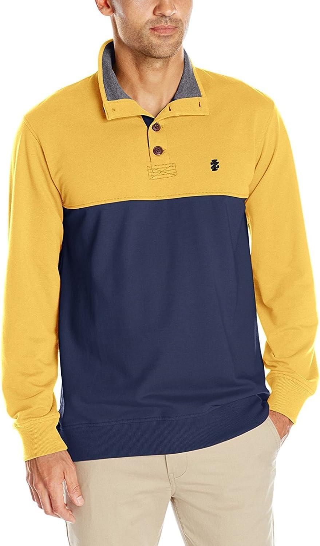 IZOD Men's Nauset Quarter Zip Colorblock Light Fleece Pullover