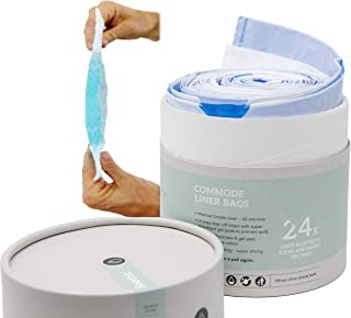 Soothic Commode Liners with Absorbent Pads, Disposable Bedside Bag, Commode Pail, Potty or Chair, Standard Universal fit