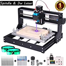 Upgrade 3000MW Laser Engraver CNC 3018 Pro Router Kit Engraving Machine, GRBL Control 3 Axis DIY Mini CNC Machine Wood PCB Milling Machine with Offline Controller + CNC Router Bits + ER11 Extension Ro