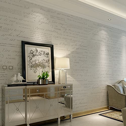 e4c00031fa2 HANMERO® Murales decorativos pared letras inglesas papel pintado vintage no  tejido papel de pared dormitorios