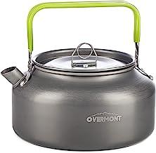 Overmont Camping waterkoker ketel theepot koffiepot draagbare aluminium FDA goedgekeurd voor outdoor picknick wandelen 1,2 I