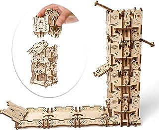 UGEARS Torre per i Dadi - Tazza per Dadi (4) - Dice Tower - Puzzle 3D Rompicapo Legno - Fai da Te Kit di Costruzione - Tor...