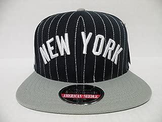 American Needle MLB New York Yankees Pin Stripe 2 Tone Navy Gray Retro Snapback Cap