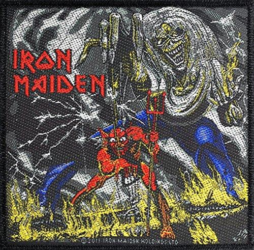 Razamataz Iron Maiden Parche Number of The Beast Patch Tejida 10x 10