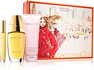 ESTEE LAUDER BEAUTIFUL DELUXE COLLECTION 3PC SET 2.5 OZ EAU DE PARFUM SPRAY + 3.4 OZ BODY LOTION + .2 OZ TRAVEL SPRAY