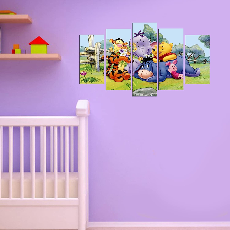 LaModaHome Best Chosen Wall Arts, Stickers and Metal Wall Sculptures (Wall Art, Winnie The Pooh, Happy Cute Bear)