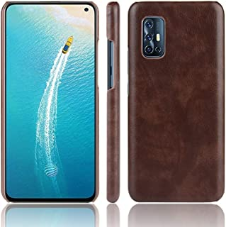 JINJIN for For Vivo V19 (Indonesia) Shockproof Litchi Texture PC + PU Case(Black) Cover (Color : Brown)