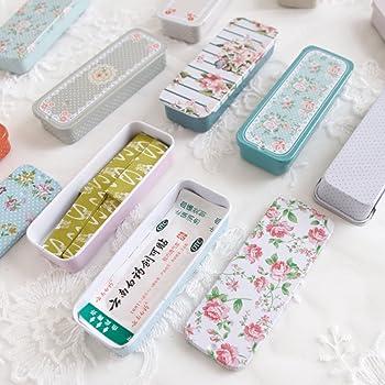 Youliy - Caja de almacenamiento con tapa deslizante para heridas, mini caja portátil de almacenamiento pequeño, organizador para el hogar: Amazon.es: Hogar