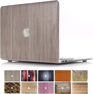 MacBook Retina 13 Case, PapyHall 2 in 1 Wood Printing Plastic Hard Cover Case for 2012-2015 Release MacBook Pro 13 inch Retina Display (NO CD-ROM/Touch) Model: A1425/A1502 - Wood Burlywood