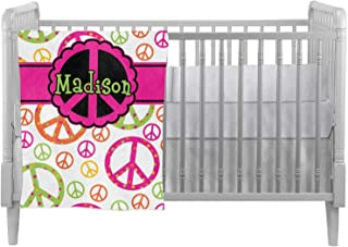 Peace Sign Crib Comforter/Quilt (Personalized)