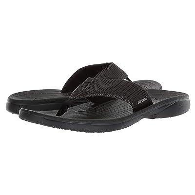 Crocs Bogota Flip (Black/Black) Men
