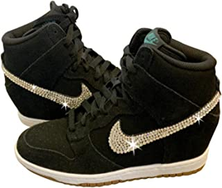 d903e803804ea Women s Swarovski NIKE DUNK SKY HIGH Custom ALL BLACK Bedazzled Kicks  SparkleBoutique2U