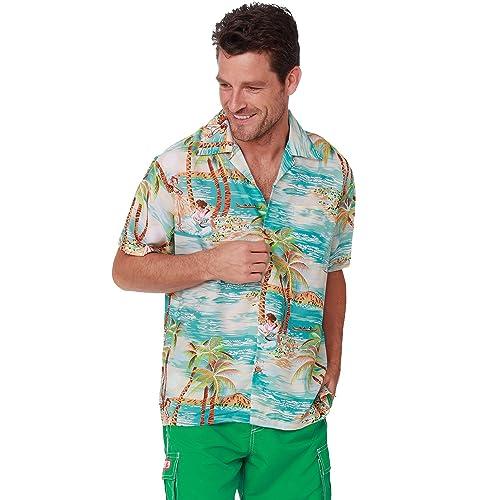 e75940eb1 Men's Hawaiian Shirt Button Down Casual Aloha Shirt Short Sleeve Beach  Shirts