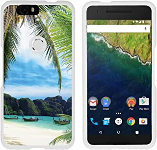 TurtleArmor   Compatible with Huawei Nexus 6P Case   Google Nexus 6P Case [Slim Duo] Fitted Ultra Compact Slim Hard Cover Matte Snap On Shell Protector on White Beach - Tropical Beach