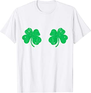 Shamrock Boobs T-Shirt Irish Boobies St Patricks Day Shirt