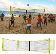 CPSW Folding Crossnet Four Square Volleyball Net and Game Set (Without Rod)