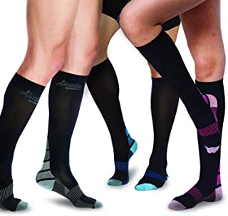AIvada Compression Socks for Men & Women with Foot Massager Pad 1 Pair