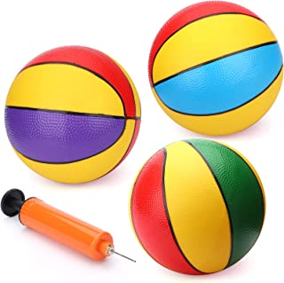 "8.5"" Beach Pool Basketballs Large Playground Balls Bouncy Rubber Balls Toddlers Replacement Plastic Basketball Sport Toy f..."