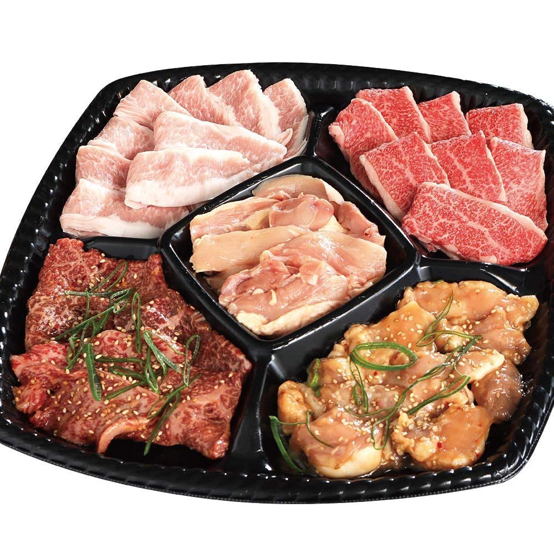 BBQプレート 5種の食べ比べ 常陸牛 国産和牛 国産豚 国産鶏 … (冷蔵便)