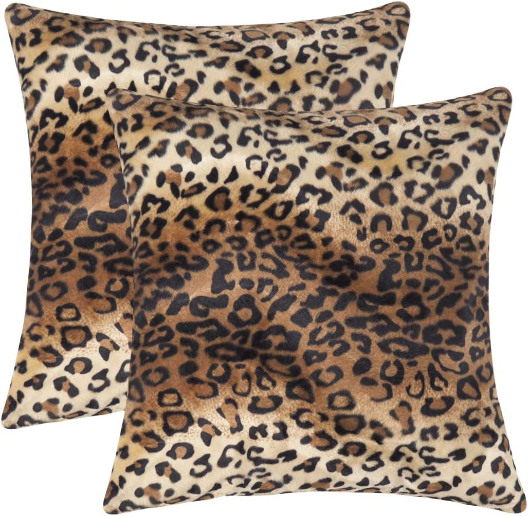 CARRIE HOME Soft Plush Leopard Ranking TOP4 Print Faux Throw Classic Fur P Decorative