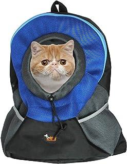 Kattryggsäck som katten kan sticka ut huvudet ur.