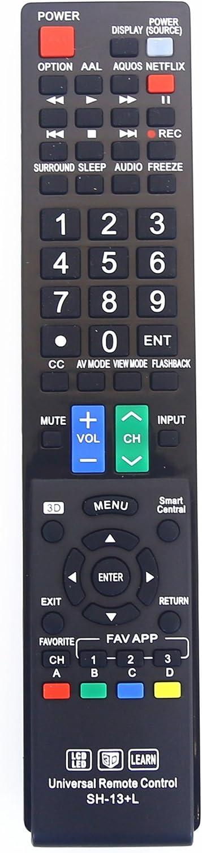 Sharp GB004WJSA Universal Remote Control for All Sharp BRAND TV, Smart TV - 1 Year Warranty
