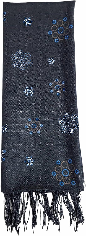 Hijab Fancy Design Scarves, Cotton Printed Shawl Lightweight Head Wraps For All Season